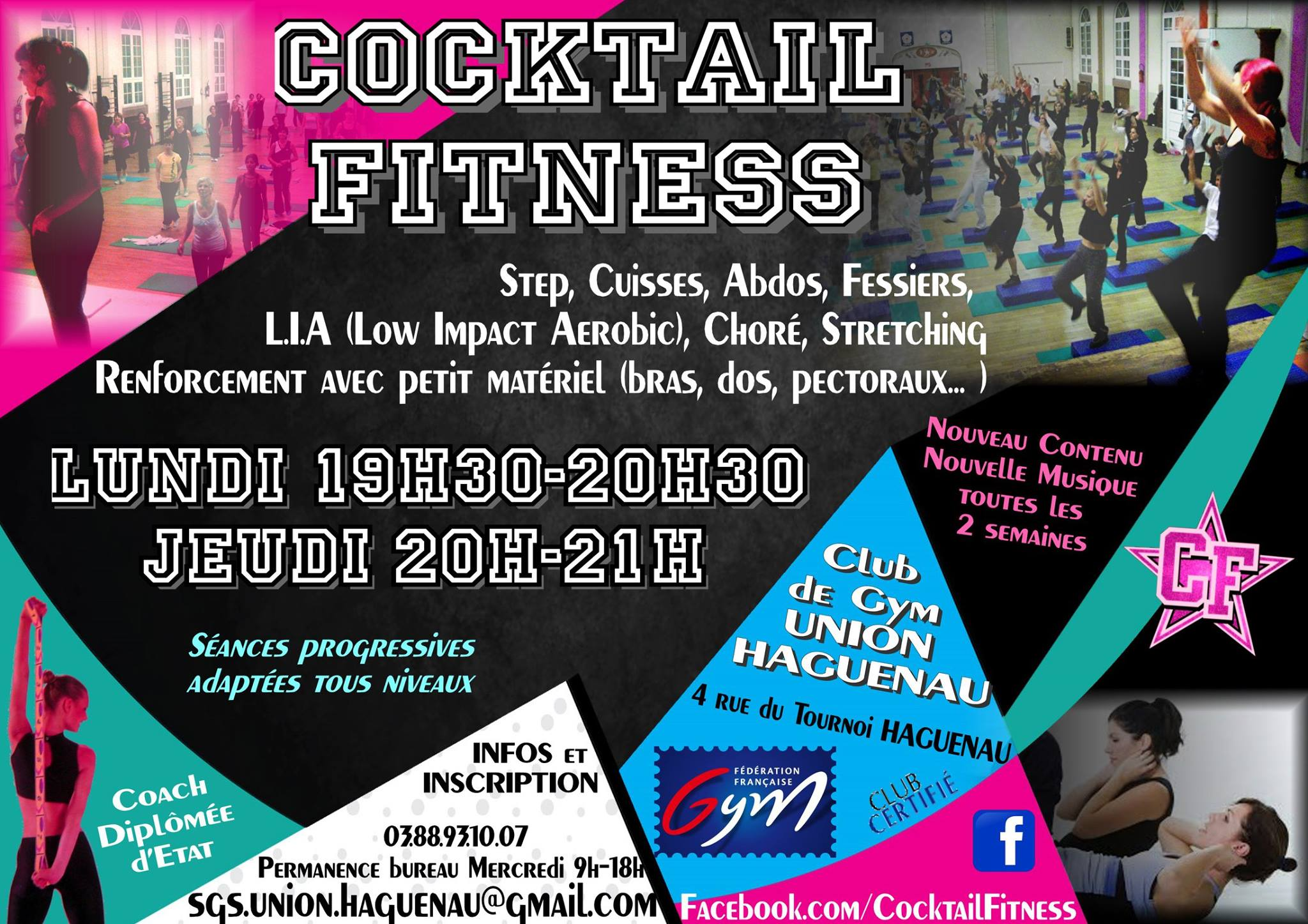 Cocktail fitness avec anne gym union haguenau for Cocktail fitness